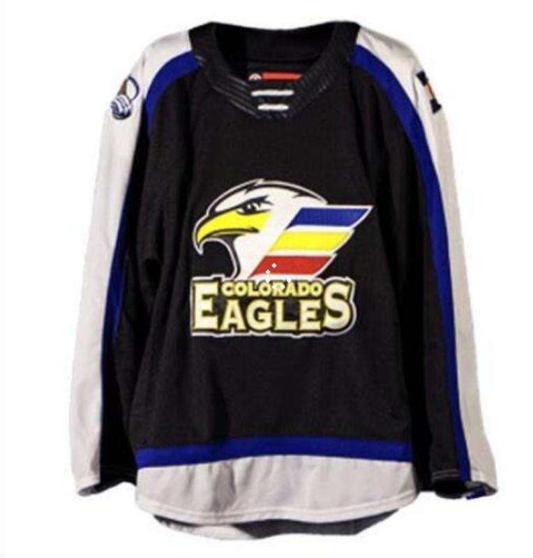 mulheres costume Homens Jovens personalizados Vintage 2018 20 Jersey Colorado Eagles Hockey Vintage Jersey Tamanho S-5XL