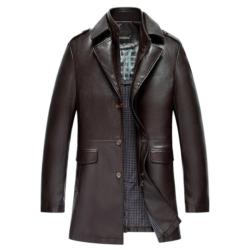 Brand New Veste en cuir hommes automne et l'hiver véritable Veste en cuir pour motocyclette / Biker Jaqueta de couro Deri ceket