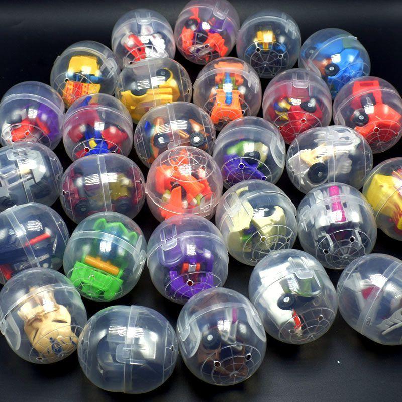 Multi estilos Cápsula Juguetes 47x55mm juguetes transformador 2.5x5.5 cm cáscaras de huevo trenzado + juguetes al azar apoyos del partido regalos de promoción de ventas regalos