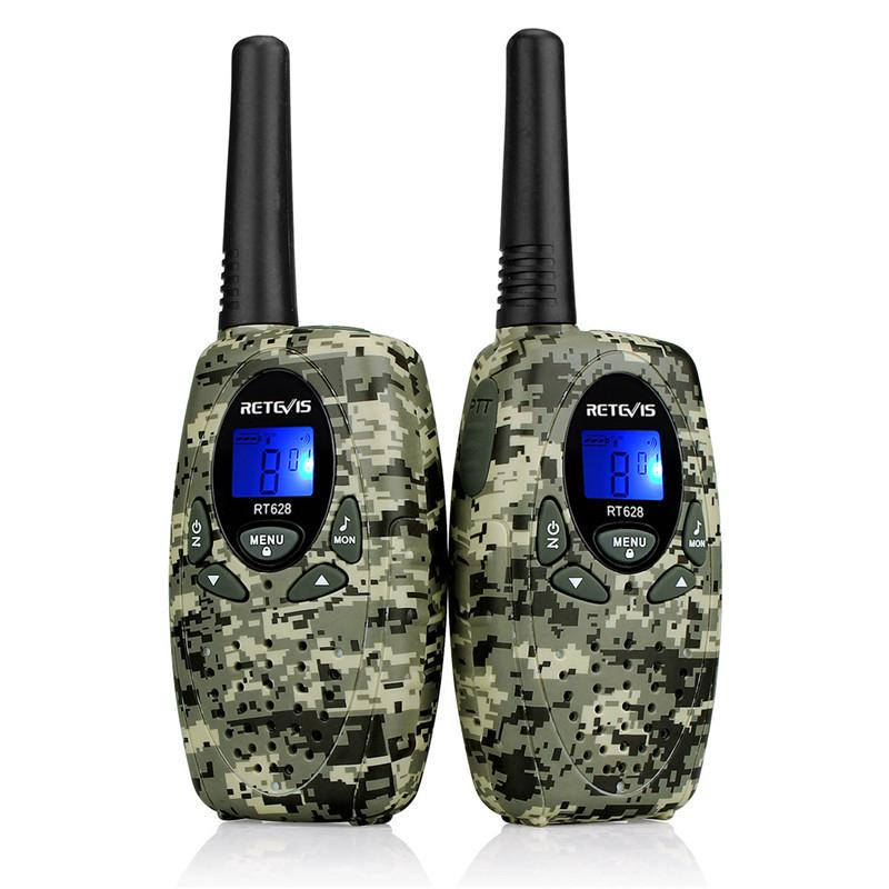 New 2pcs Retevis RT628 Crianças Walkie Talkie Crianças Toy Radio 0.5W PMR446 8CHs UE VOX Handheld 2 Way Radio Hf Transceiver