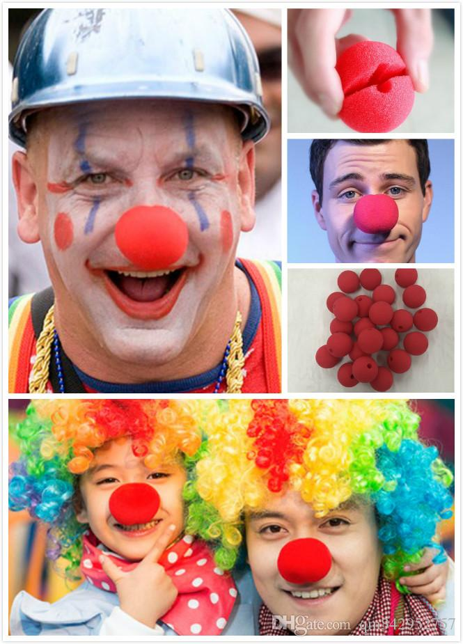 Magic Red Sponge Balls Clip Circus Clown Nose Comic Halloween Christmas Party supplies children gift Stage prop