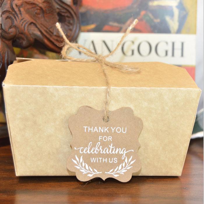 الجملة 50pcs / lot هدية عيد الميلاد زخرفة التفاف بطاقة شكرا لك بطاقة هدية بطاقة مجوهرات عيد الميلاد بطاقة التعبئة والتغليف