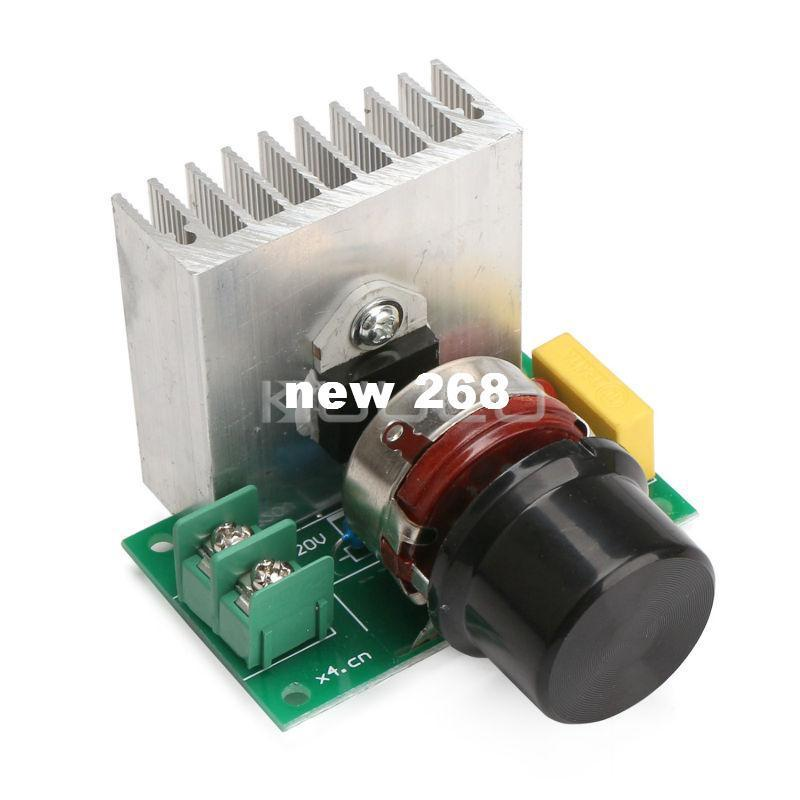 Freeshipping 5 PCS/LOT AC220V 3800W SCR Voltage Regulator Adjustable Controller for water heater/lighting/motor/electric iron etc
