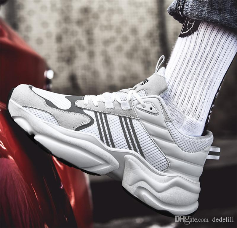 Atacado 2019 Hot Venda Nova voando juventude selvagem respirável hip-hop designer de moda calçam as sapatilhas de quatro cores das sapatilhas dos homens que executam