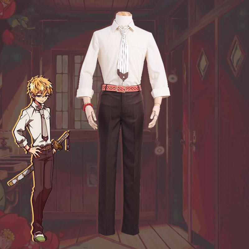 Toilet-Bound Hanako-kun Cosplay Minamoto Teru Uniform Costume Teenagers School Uniform Suit Party