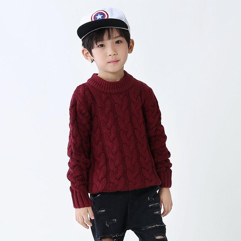 [Outages-] Y Otoño Invierno Medio y Corea del estilo del suéter de los niños de punto suéter grandes Boys' BOY'S Cuello alto INFANTIL