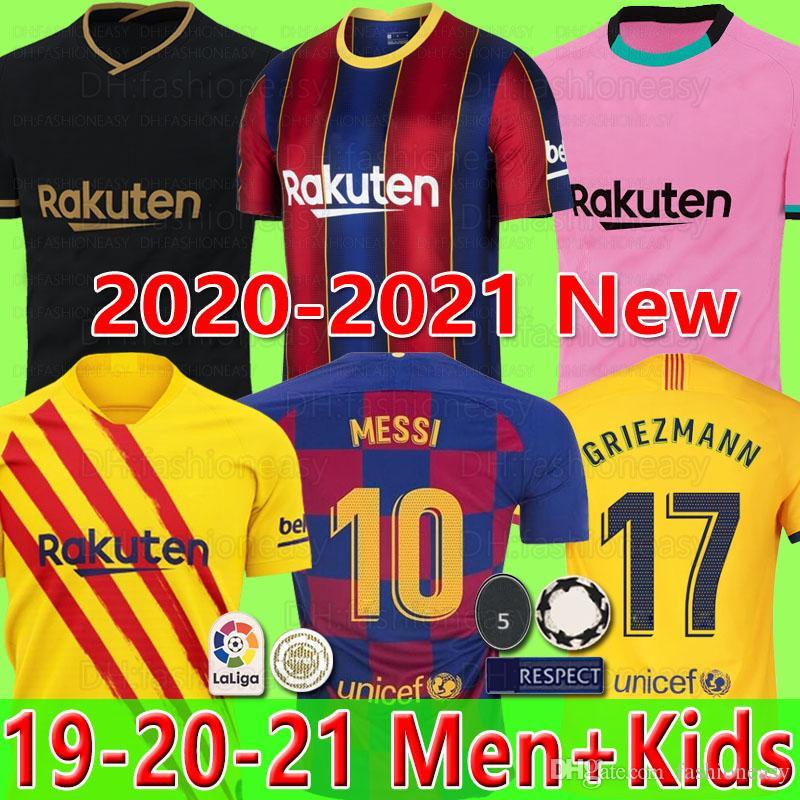 FC BARCELONA camisa de futebol 20 21 camiseta de futbol ANSU FATI 2020 Messi GRIEZMANN DE JONG camisas de futebol camisa homens crianças kit camisa de futebol