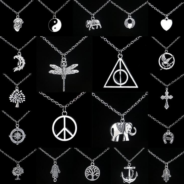 Free shipping Personalized alloy pendant necklace hot explosion models (with chain) mix order