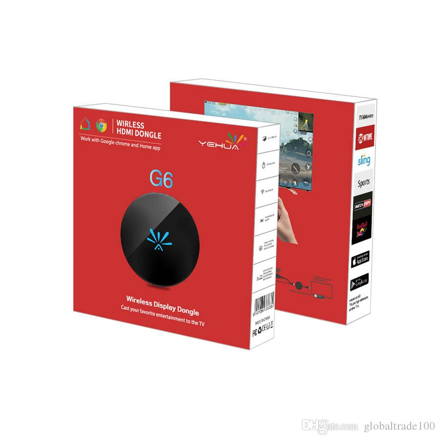 Yehua G6 TV Stick 2,4 ГГц Видео WiFi Дисплей Dongle HD Цифровой HDMI Медиа Видео Streamer ТВ Приемник Dongle для Chromecast 2