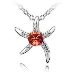 Cristal austriaco de moda de joyería Collar de plata de la manera plateado con incrustaciones de diamante exquisito nueva diseños Collares para regalo de Navidad Mujeres