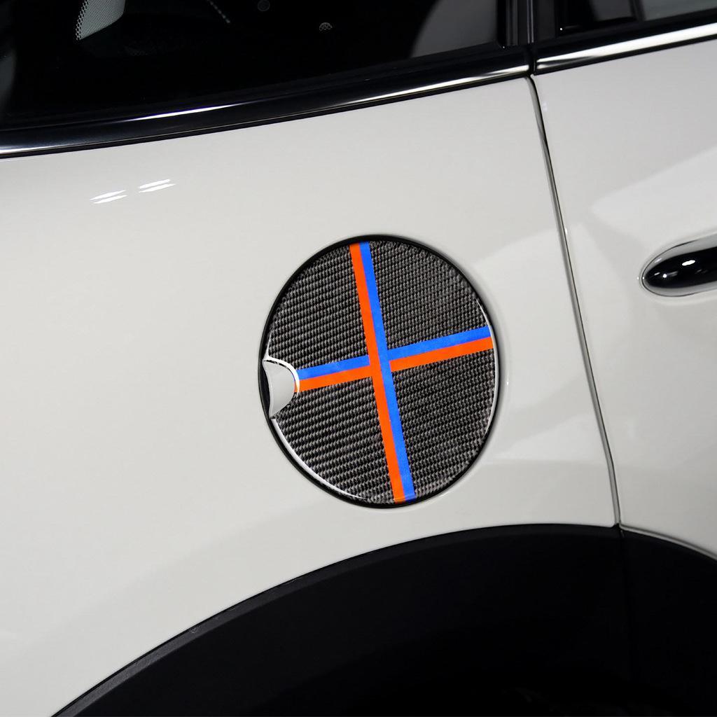 Painel de ornamento de fibra de carbono Automotive Fuel Tank Cover para todos os veículos de BMW MINI