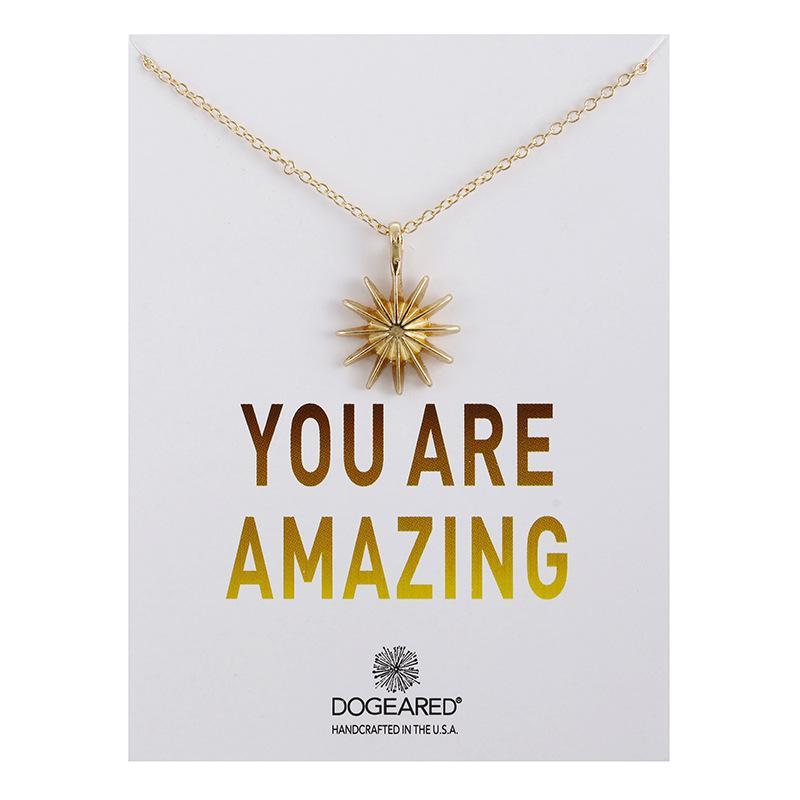 Radiance Sun Star Anhänger Kette Halskette Schmuck Gold-Silber-Charme-Halskette erstaunliche Karten-Partei-Geschenk