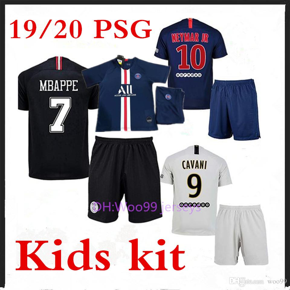 wholesale dealer 50613 addfb 2019 Top Boy Kit Psg Soccer Jersey Maillot 19 20 Paris Soccer Jersey 2019  2020 Maillot De Foot Psg Kids 18 19 20 MBAPPE Football Shirt Kids Kits From  ...