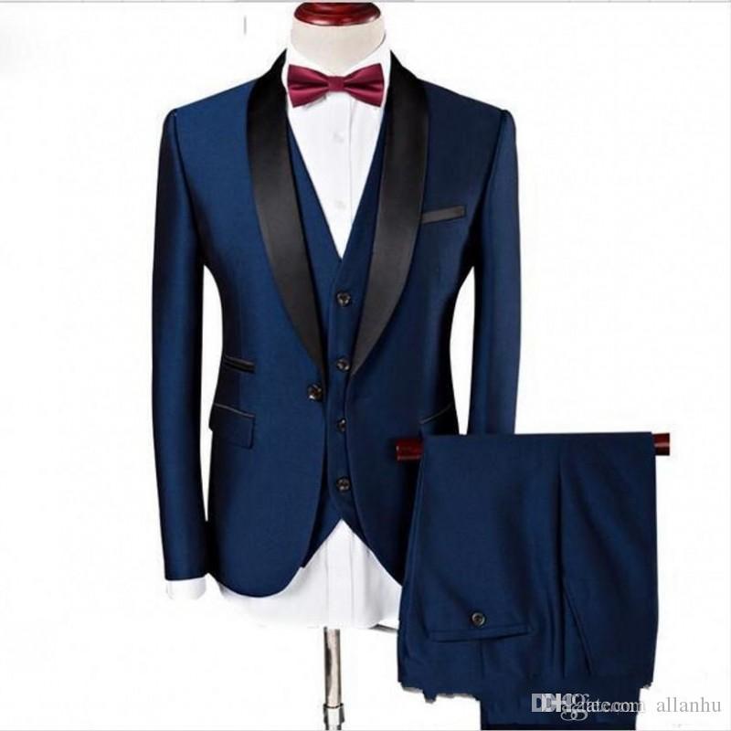 Custom Made Mens Wedding Suits Slim Fit Handsome Wear Groomsmen Formal Tuxedos