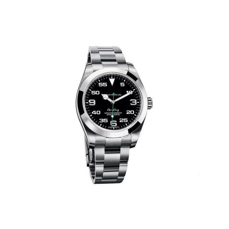 Top Luxury Менес Часы Exp Air King Series 116900 и 216570 Black 40мм циферблат автоматические механические Movement 316 Стальной отруби Дизайнерские часы