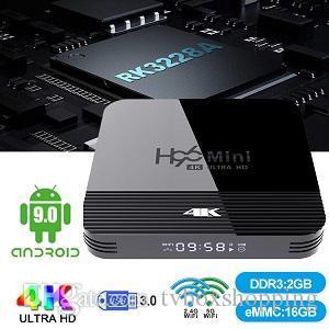 1 Piece! H96 Mini H8 2GB/16GB Android 9.0 OTT TV BOX RK3228A Quad Core Dual WiFi 2G+5G BT4.0 TX3 TX6