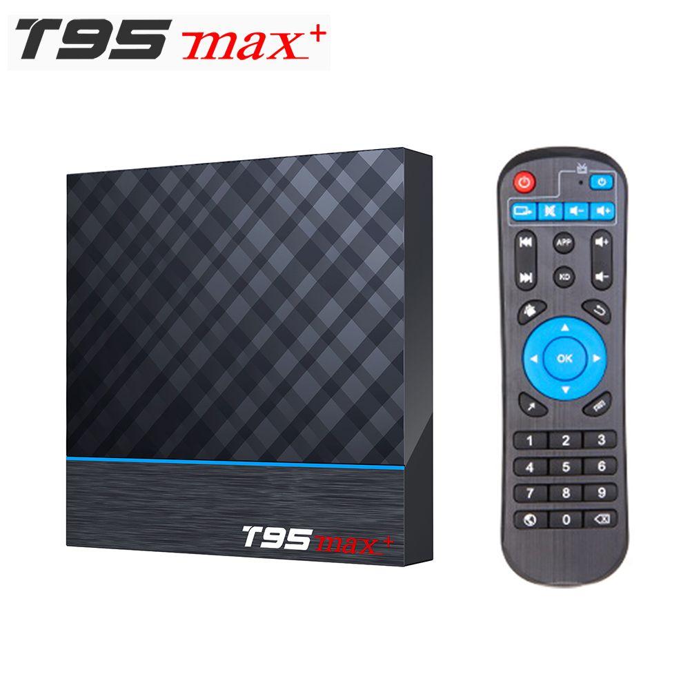 T95 MAX PLUS Smart Android 9.0 TV Box Amlogic S905X3 2.4 جرام / 5 جيجا هرتز WiFi BT 8K Set Box VS Q Plus