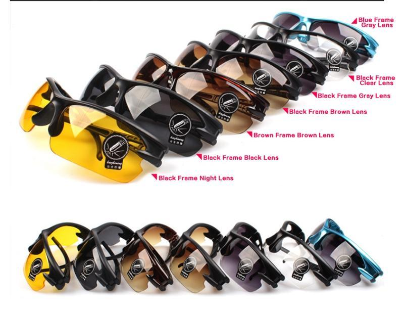 Wholesale 7 Colors Outdoor Bike Driving Cycling Glasses Sport Goggles Sunglasses Eyewears Hot Sale Stylish Designer Goggles Sunglasses