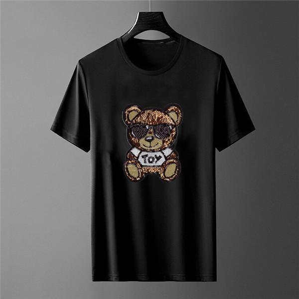 top box Qualidade Moda de Nova cor do logotipo do pescoço de grupo T-shirt Mulheres New Men Verão Tee Hip Hop T-shirt Casual TOP2