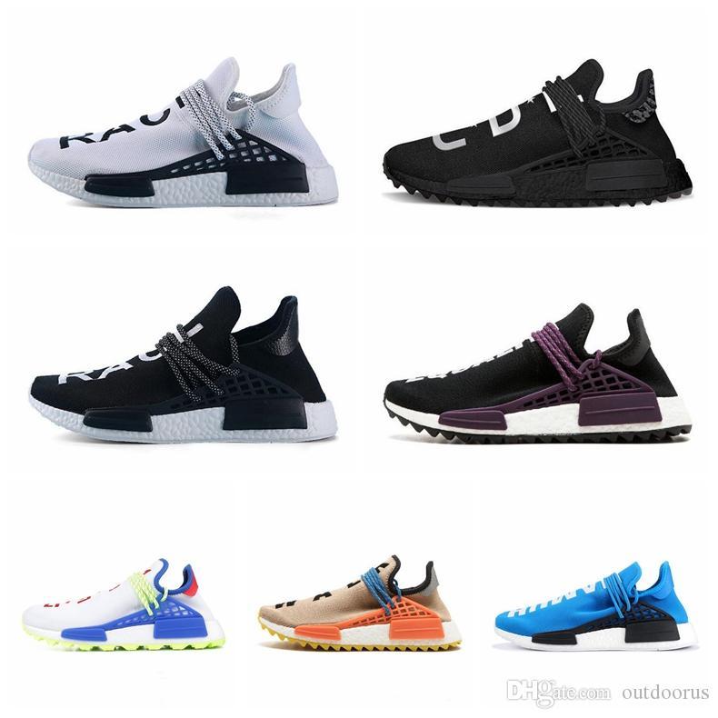 PW Human Race Hu Trail X Men Running Shoes Pharrell Williams Nerd Black White