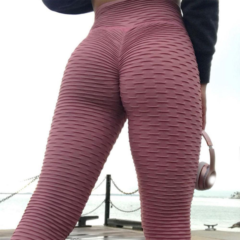Kadın Spor Tayt Yüksek Waisted Push Up Yoga Pantolon Kadın Gym Fitness Çalışan Tayt Koşu Legins