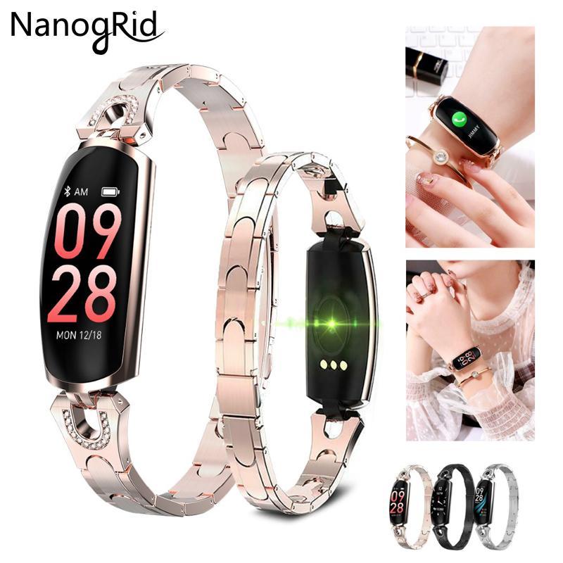 H8 smart Band Frauen Aktivität Fitness Tracker Smart watch Pulsmesser Blutdruck IP67 Wasserdichte Smart Armband AK16