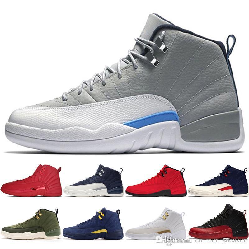 Economici New 12 12S Gym rosso Michigan Bulls mens scarpe di pallacanestro Influenza International Game Volo Ali taxs uomini di sport formatori sneaker di design