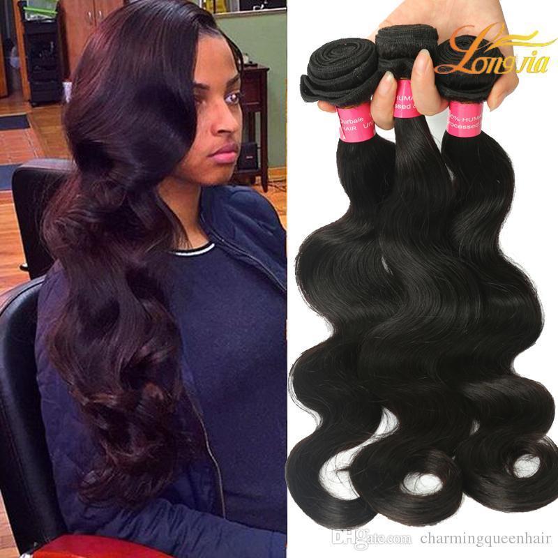 Factory Price Peruvian Body Wave Hair Extension Natural Black 1B Hair Bundles 8-26 Inches 100% Human Hair Weaving Free Shipping