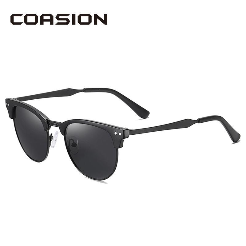 Coasion 2020 Brand Design polarisierte Sonnenbrillen für Frauen Männer Retro Halbmetallrahmen Sonnenbrillen Fahren Zonnebril Ca1364 EFDIf