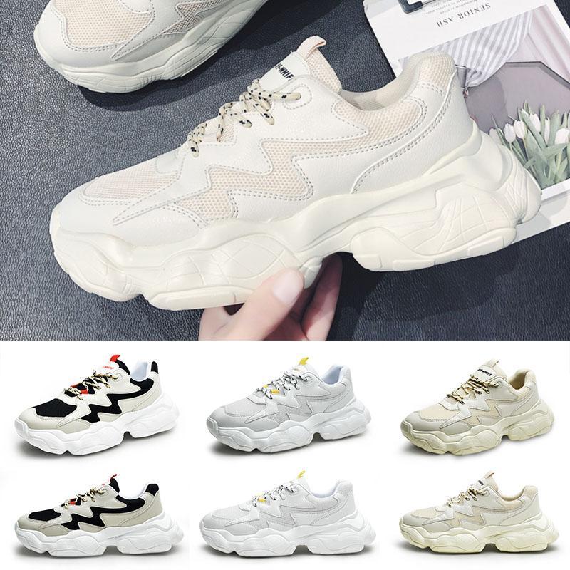 Zapatillas deportivas para hombre Top negro fresco blanco de la manera enredaderas papá alta calidad mujeres de los hombres corrientes de los deportes zapatillas de deporte del instructor 39-44