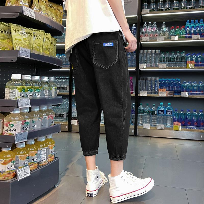 2020 summer thin section jeans men's street brand loose large size sports seven pants casual sweatpants Cotton Chinese Style