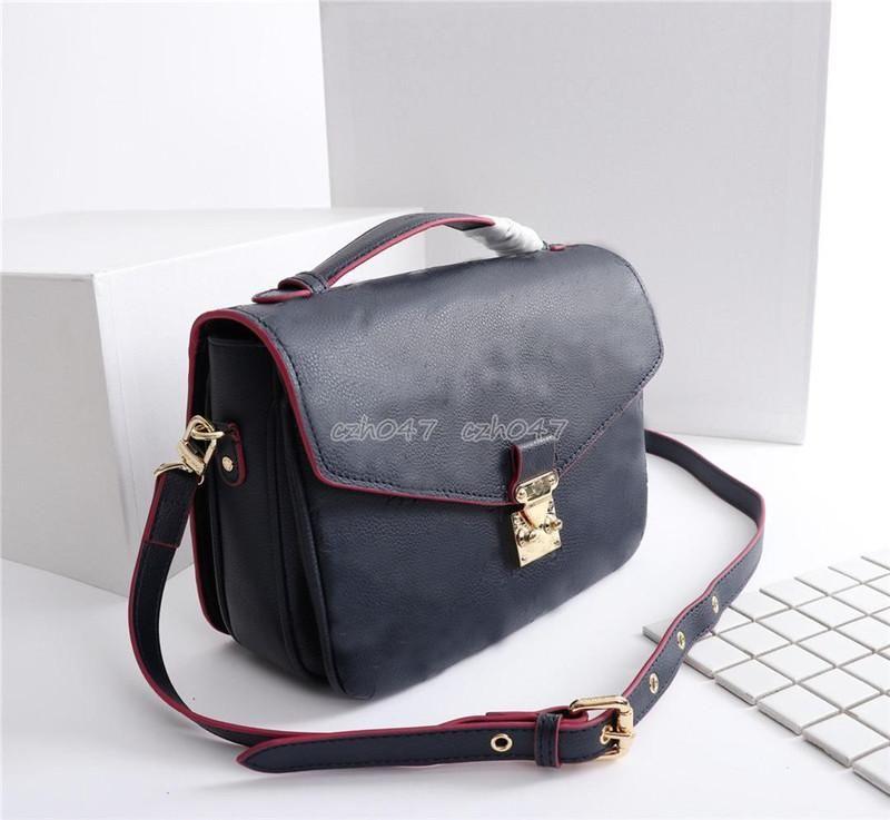 Style classique en cuir véritable vente chaude 2018 nouvelles femmes sacs sacs à main sacs à bandoulière sacs fourre-tout messenger M40780