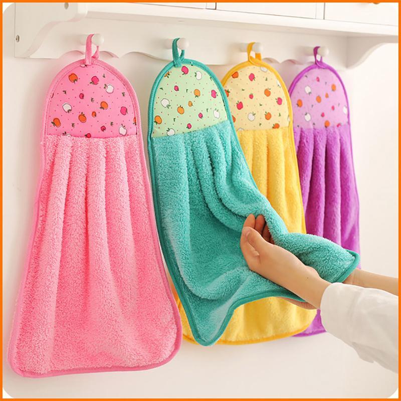 Коралловые бархат полотенца кухни ванной висит 5 цвет микрофибры мягкий мощный всасывающий полотенце 30 * 40см детский носовой платок