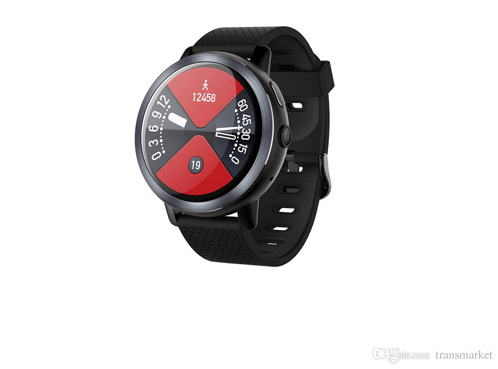 LEMFO LEM8 Smartwatch Android 7.1 LTE 4G Sim WIFI 1.39 pulgadas 2MP Cámara GPS Ritmo cardíaco IP67 Reloj inteligente a prueba de agua para hombres, mujeres