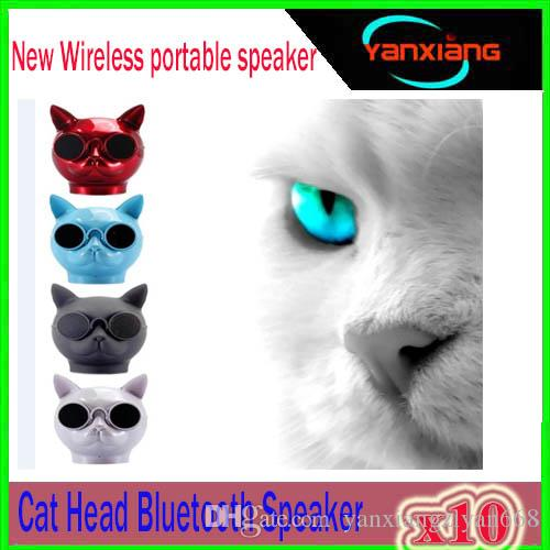 10pcs Aerobull Dog Head Bluetooth 4.1 Lanyard Bulldog Bluetooth wireless speaker HIFI subwoofer support U disk TF card ZY-YX-B