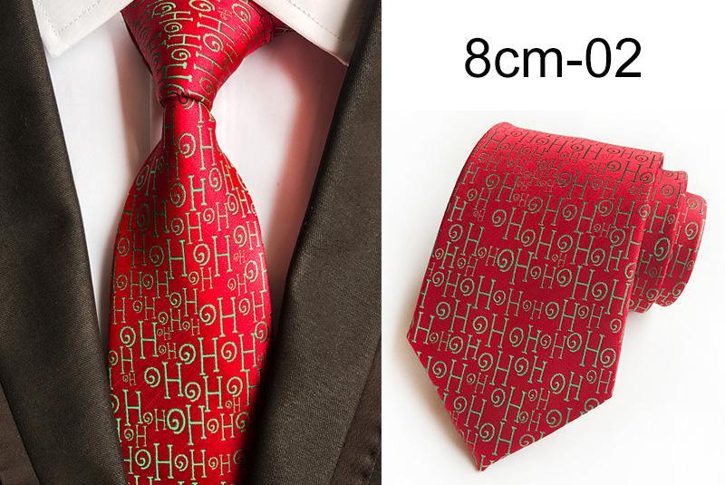 남성 산타 클로스 8cm 넥타이 자카드 직물 Corbatas 슬림 Vestidos 눈사람 패턴 넥타이 목에 넥타이에 대한 GUSLESON 크리스마스 넥타이