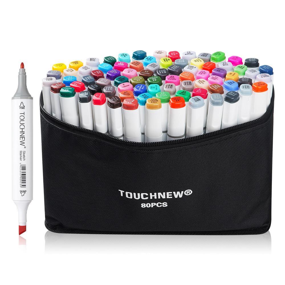 Skizzieren 36 Colors Malen Touchnew Marker-Set mit Doppelspitze auf Alkoholbasis zum Zeichnen