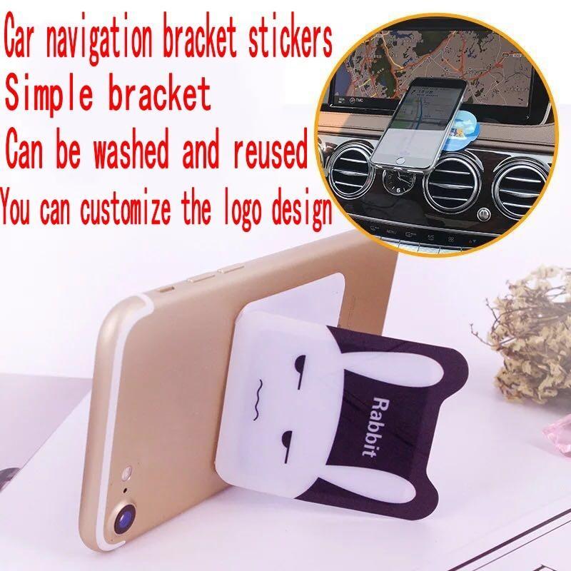 Per Iphone 8 X del supporto dell'automobile di lusso di alta qualità Metal Flat Stick magnetico auto adesivi cartoon supporto del telefono mobile per tutti i cellulare