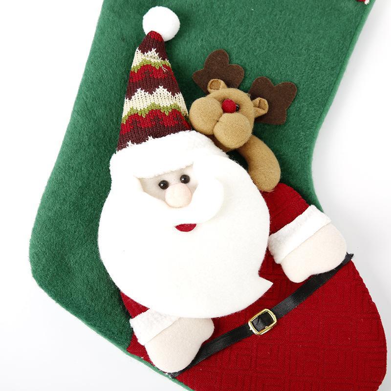 Ampliación de Navidad pin li wa caramelo de la Navidad decorativo calcetines calcetines de punto bolsa de regalo