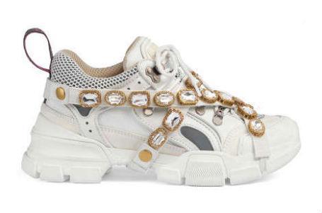 2019 FlashTrek sneaker con cristalli rimovibili Oversize outdoor design trekking scarpa da tennis piattaforma di sneakers in pelle scarpe da uomo stivali L29