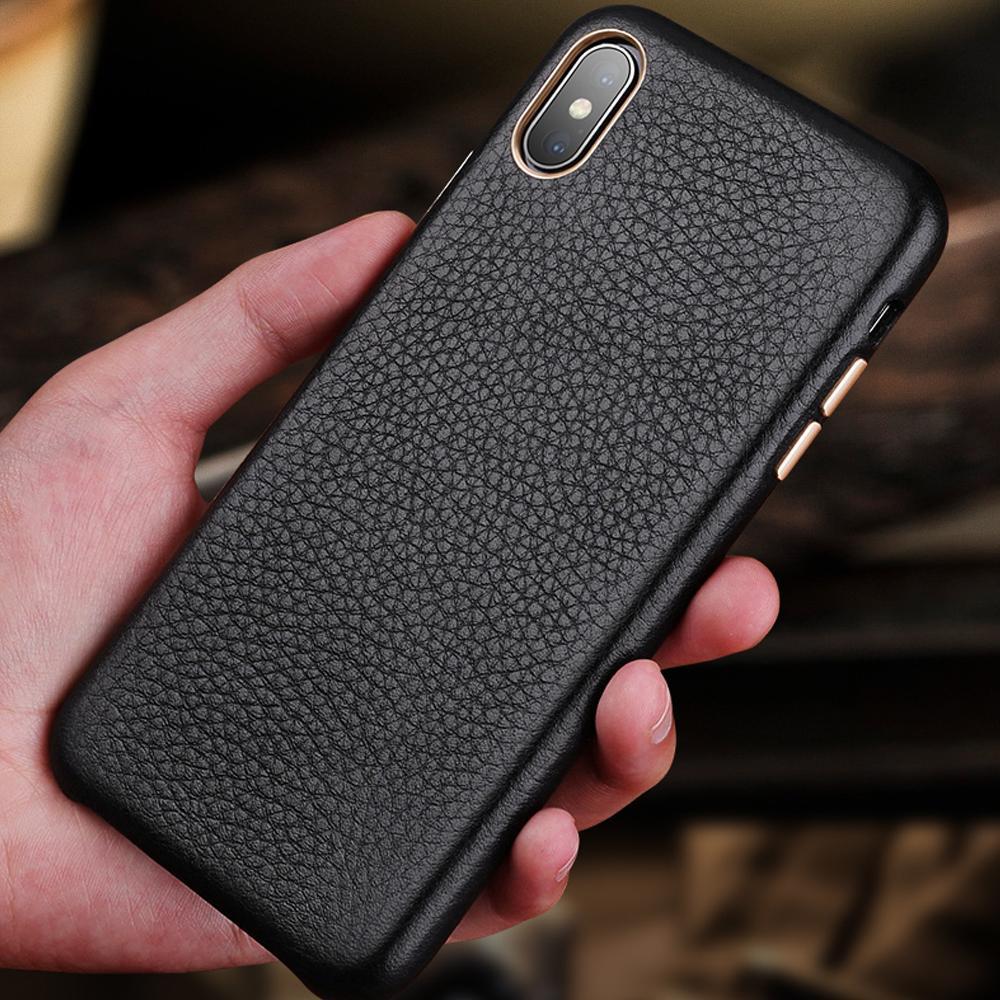 Premium Leather Case for iPhone 8 7 6 6s plus Xr X Xs Max lusso Casi sottile della copertura protettiva morbida Bumper per Apple iPhone Xr