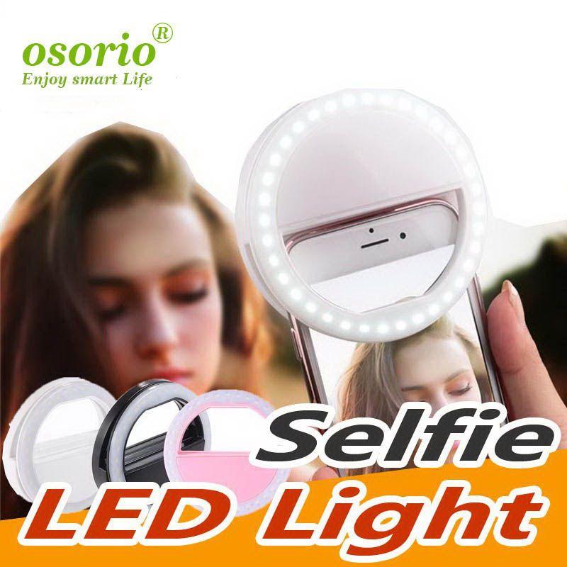 Nouveau portable universel selfie anneau flash LED lumière lampe téléphone mobile Led selfie lampe flash annulaire pour Iphone Pour Samsung