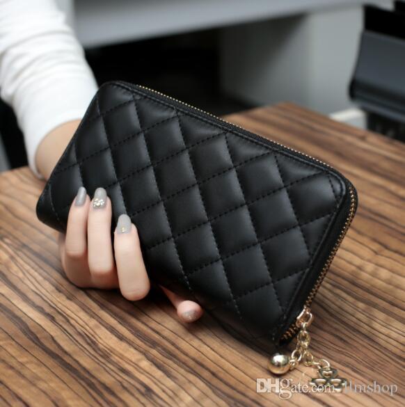 женский кошелек на молнии большой емкости сумка мульти карты бумажник мобильный сумка