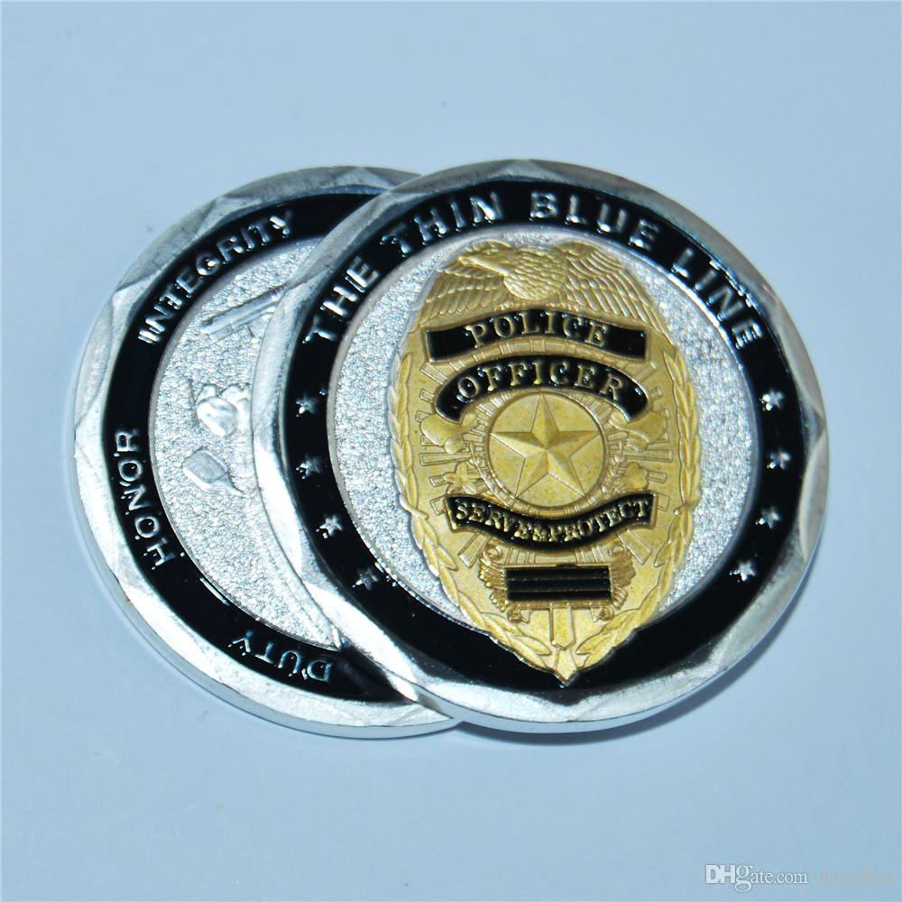 O BULE linha fina - Serviços Proteja Desafio COIN novo estilo venda quente de polícia moeda comemorativa, entrega gratuita