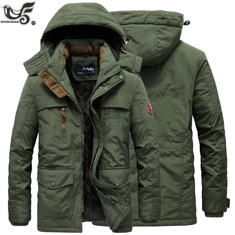 Nouveau col de fourrure à capuche Homme Veste Hiver chaud laine Liner Vestes homme et manteaux outwear neige coupe-vent Homme Parka MX191121