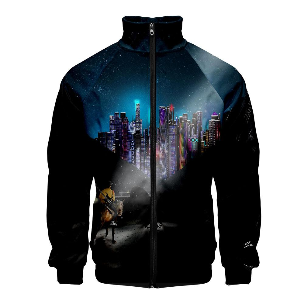 Hot Sale Lil Nas X Collier Veste Hommes Mode Casual Streetwear 3D Imprimer Lil Nas X Collier Veste Personnalité Manteau Vêtements
