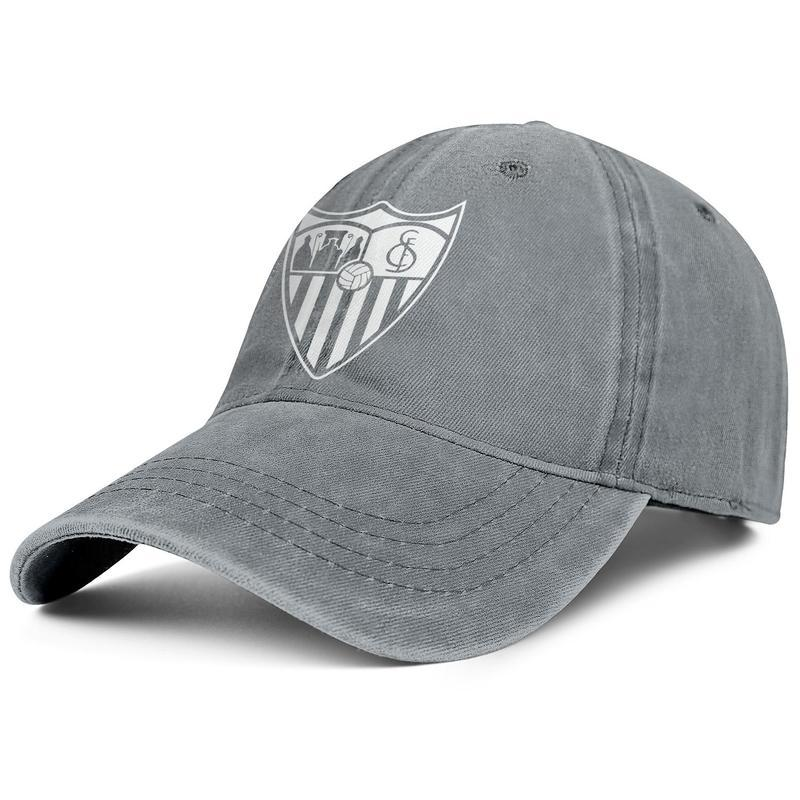 Sevilla FC Los Hispalenses Sevillistas SFC bianco Gli uomini e le donne del camion Cowboy cappello registrabile Design Sport dell'annata su ordinazione migliore originale
