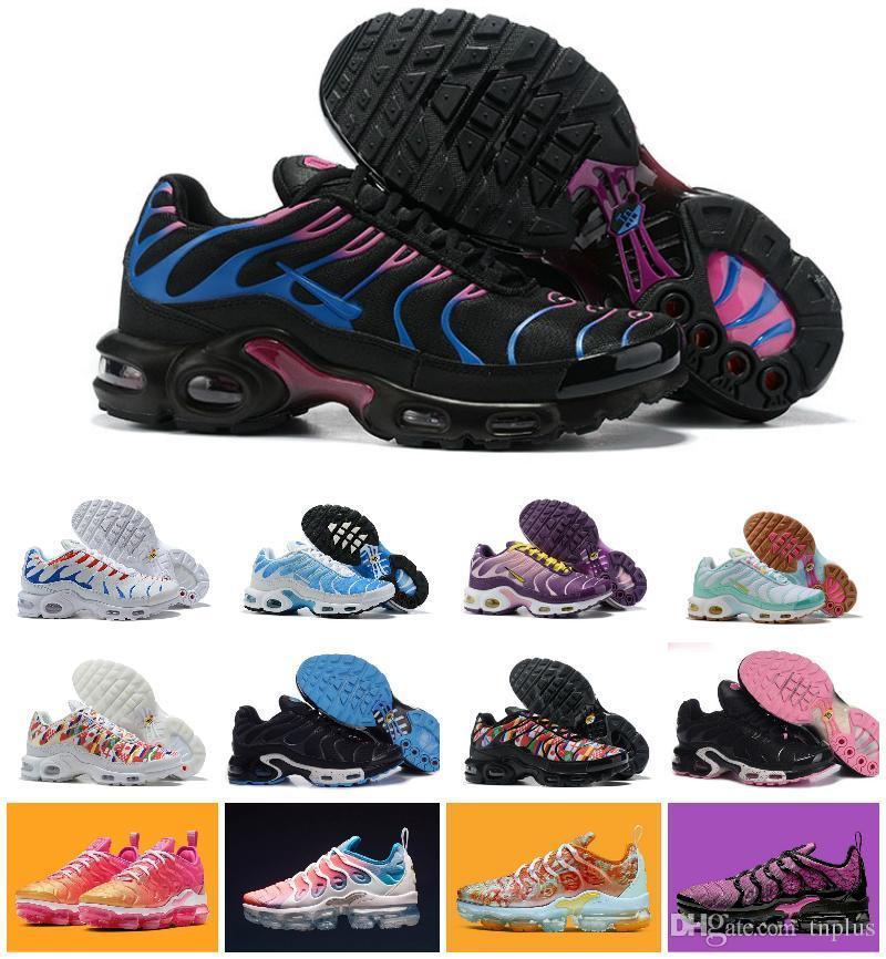 Femme Koşu Ayakkabı 36-40 requin Yeni Geliş 2019 Bayan Ayakkabı Gökkuşağı Renkli Beyaz siyah kırmızı tn ultra Chaussures artı Sneakers Nefes