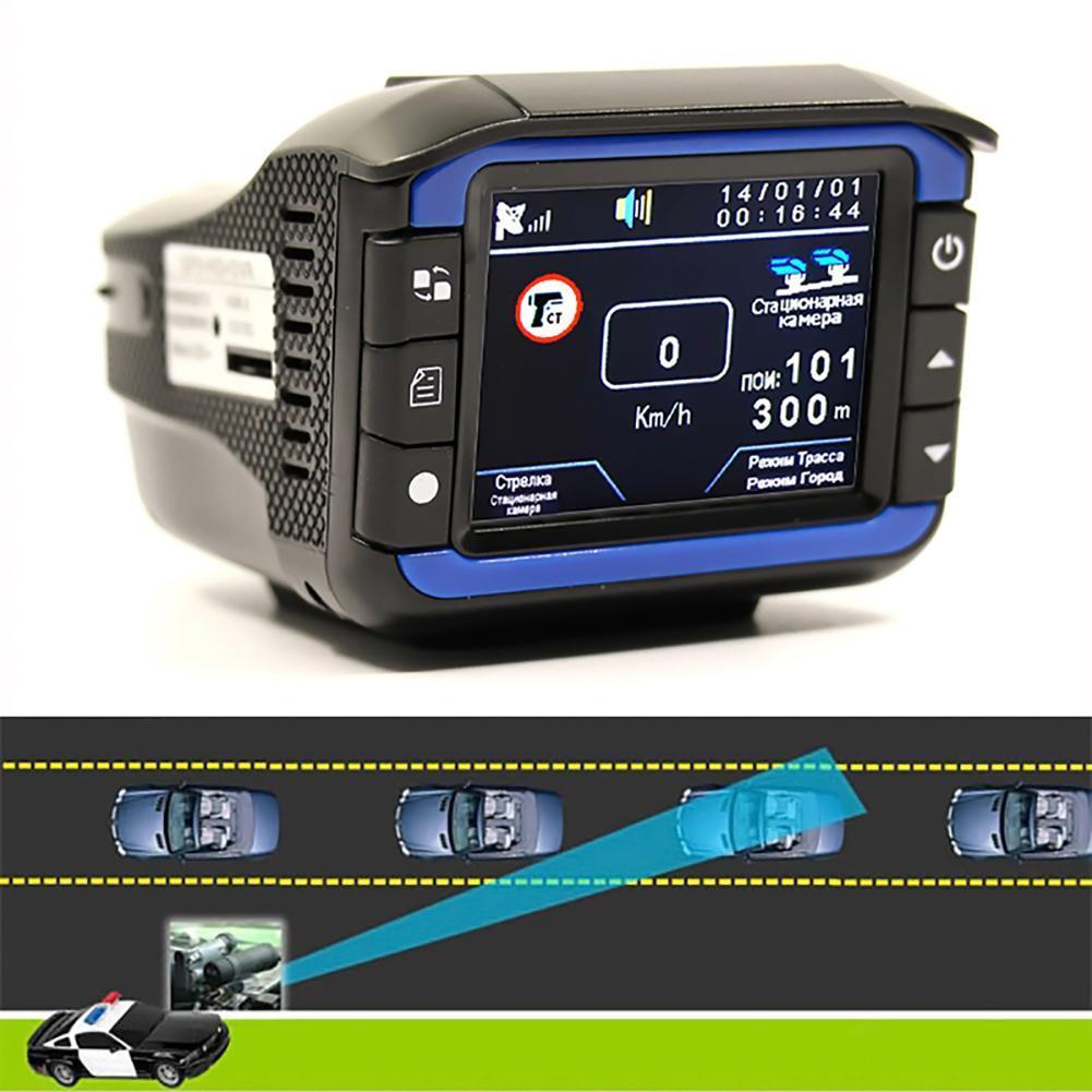 2 1 Anti Lazer Araba Çizgi Kam Araba DVR Kamera Kaydedici 140 Derece Dashcam HD 720 P İngilizce ve Rusça Ses