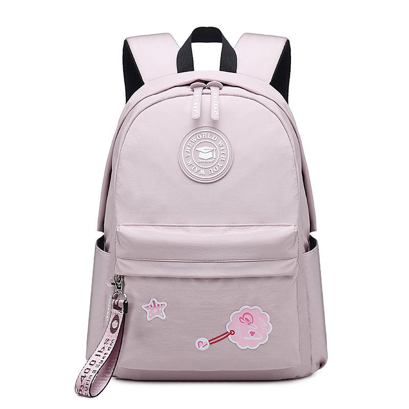 New Casual Backpack Shoulder Bag Solid Color Nylon Backpack Men And Women Students Bag Waterproof High Quality Fashion Backpack